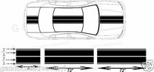 Dual 11� Dodge Charger Dual Rally Racing Stripes Vinyl Double Stripe Decals