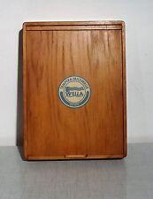 Antikes D.R.P.  Wella Friseur Zubehör Kästchen Werbung Holz Lockenwickler Box