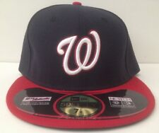 New Era 59/50 Fitted Hat - Washington Nationals *Field (Navy Blue/Red)
