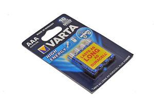 VARTA Batterie Alkalisch AAA/LR03 1.5 V High Energy 4-blister MN2400