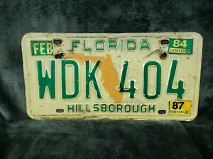 1984 FLORIDA LICENSE PLATE - Hillsborough COUNTY