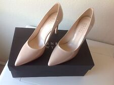 Barneys New York Women's Classy Italian Shoes NUDE Patent Pumps Size 8 (38) NIB