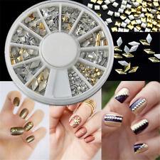 120PCS Mixed Shape Lot Nail Art Tips Gold Silver Rivet Metal Studs Charms Decor