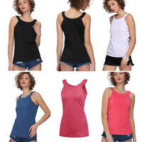 Women's Round Neck Basic High Neck Tank Vest Ladies Halter Tank Tops Holiday New