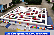 60x60x12 Commercial Inflatable Maze Carnival Obstacle Course Bounce We Finance