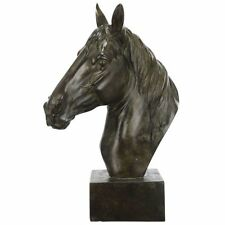 Classic Horse Head Stature Ornament - Resin - 40 cm Tall