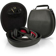Igadgitz Noir Eva Etui Housse rigide de Rangement pour Casque Headphones Headset