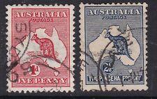 Australia ^1913 sc# 2,4 used Kangaroos Classics $@lar2021aust