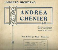 Spartito Musicale Andrea Chenier Luigi Illica Improvviso di Chénier Tenore Piano
