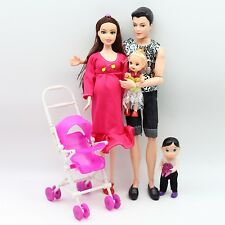 New Educational Real Pregnant Doll Mom Dad Baby Carriage Girls Toys Best