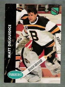 1991-92 PARKHURST BOSTON BRUINS SERIES 1 TEAM SET!!  10 DIFFERENT CARDS!!