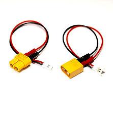 2x Adapter Set XT60 Stecker > 2PIN 2.0P Buchse Ladekabel 15cm Kabel LiPo Akku