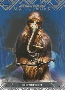 "Star Wars Masterwork 2017: #42 ""Chewbacca"" Blue Parallel Base Card"