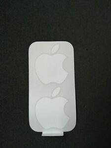 Genuine & Original Apple Logo Stickers  - iPad, iPhone, MacBook - White