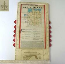 1930s VINTAGE ROAD MAP OF GERMANY w/SHIFTING PAGES CASE XTR. RARE