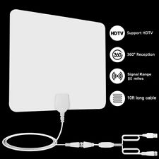 80 Mile HDTV Indoor Antenna HD Digital TV Signal Amplified Booster Aerial +Cable