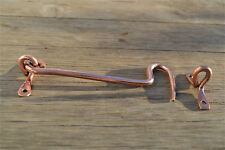 Shaker style hand made copper 6 inch hook and eye latch door hook