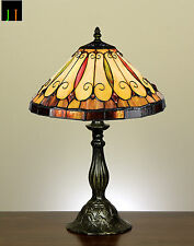 JT Tiffany Felice Style Stained Glass Bedside Table Desk Lamp Light Leadlight