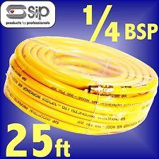 SIP 07700 Reinforced PVC Workshop Air Hose 25ft 7.5m 1/4 BSP ends airline line