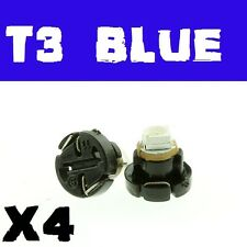 4PCS Blue T3 8mm Neo Wedge SMD LED Twist Lock LCD Dash Cluster Switch