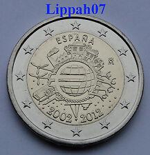 Spanje 2 euro 10 jaar Euro 2012 UNC