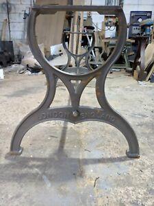 Industrial cast iron London England table leg base