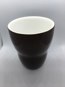 Starbucks Aida 2008 No Handle Ceramic Coffee Mug Tea Cup Brown White