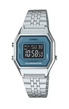 Casio Vintage Watch * LA680WA-2B Silver w/Blue Steel Classic Women #crazy1212