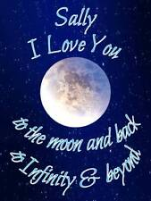 Personalised Love you to the moon and back Greeting Card & Envelope 643
