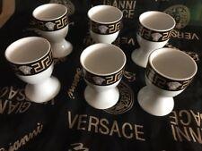 Nuevo 6 set porcelana huevos vaso da vinci Medusa meandros negro oro 30 57 72 84