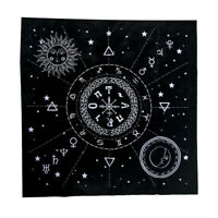 1x Constellation Tarot Table Card Cloth Divination Velvet Tapestry Black