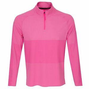 Nike Men's Dri-FIT Vapor 1/2 Zip Golf Top Hyper Pink EVERY SIZE CU9828-639 $110