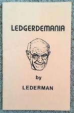 Vintage 1983 Ledgerdemania Magic Lecture Notes By Dave Lederman