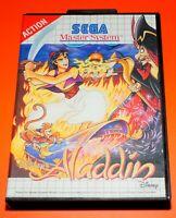 Disney's Aladdin VideoGame Gioco Videogioco per Console Sega Master System Used