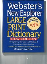 WEBSTER'S NEW EXPLORER LARGE PRINT DICTIONARY - LP108