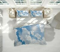 Clouds Blue Nature Clear Sky Quilt Cover Double Bed Single Queen King Size