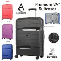 "Aerolite 29"" Ultra Secure Large Suitcase ABS Hard Shell Hold Luggage Bag 8 Wheel"