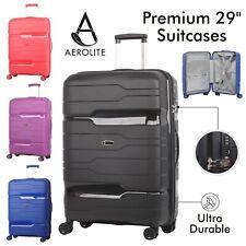 "Aerolite 29"" Ultra Secure Large Suitcase ABS Hard Shell Hold Luggage Bag 8 Wheel"