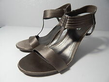 """KENNETH COLE REACTION - Size 9.5 M - """"Know Way"""" Pewter Satin Open Toe Heel -NWOB"""