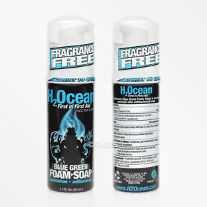 H2Ocean Blue Green Tattoo Aftercare Antibacterial Foam Soap - 1.7 Oz. (50 mL)