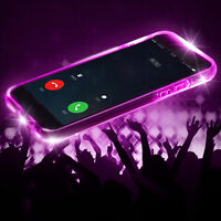 LED Flashing Shockproof Transparent TPU Case Cover For iPhone 5/6/7/8/X  s8