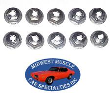 Mopar Chrysler Dodge Plymouth Trim Moulding Molding Clip 10-24 Stud Nuts 10pcs B