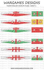 10 mm Bandiere-Tudor cavalleria inglese-FOGLIO 1-LUCCIO & SHOTTE, Barocco, DBR