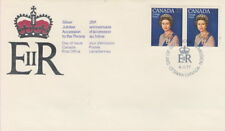 CANADA #704 25¢ QUEEN ELIZABETH II SILVER JUBILEE PAIR FIRST DAY COVER