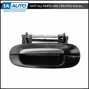 Door Handle Outer Black & Chrome Rear Driver Side Left for Cadillac Deville DTS