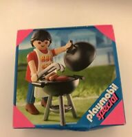 PLAYMOBIL 4649 DAD WITH BBQ SET - BRANd NEW IN BOX - FREE SHIPPING