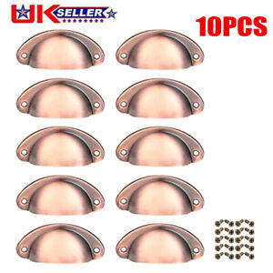 10Pcs Half Moon Shaker Cup Handles Knobs Drawer Kitchen Cabinet Pull Cupboard YE