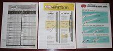 1964 65 66 67 68 1969 ANCO Wiper Arms_Blades Specs Application Catalog 3 vol SET