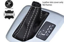 WHITE STITCH TOP GRAIN LEATHER AUTO AUTOMATIC SHIFT BOOT FOR VOLVO XC90 02-14