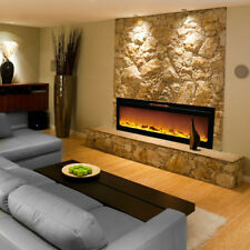 "Ryan Rove Astoria 60""Built-Ventless Heater Recessed Wall Electric Fireplace Log"